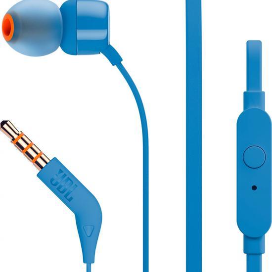 Fone de Ouvido JBL T110 Azul c/Cabo