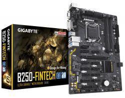 Placa Mãe S1151 Gigabyte B250-Fintech VGA/ USB/ DVI/ DDR4/ (BTC)(Mineracao)