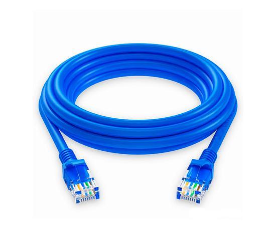 Cabo de Rede Quanta 1M CAT5 Ethernet O.D. 5.0MM QTCRC501 Azul