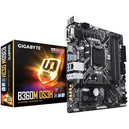 Placa Mãe Gigabyte LGA1151 B360M-DS3H Ultra Durable HDMI/DVI/VGA