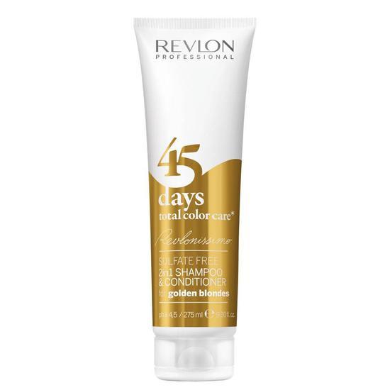 Shampoo + Condicionador Revlon Professional 45 Days 2 Em 1 Golden Blonde 275ML