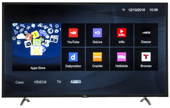 "Smart TV LED TCL 43"" 43S4900 Full HD/Digital/HDMI/USB"