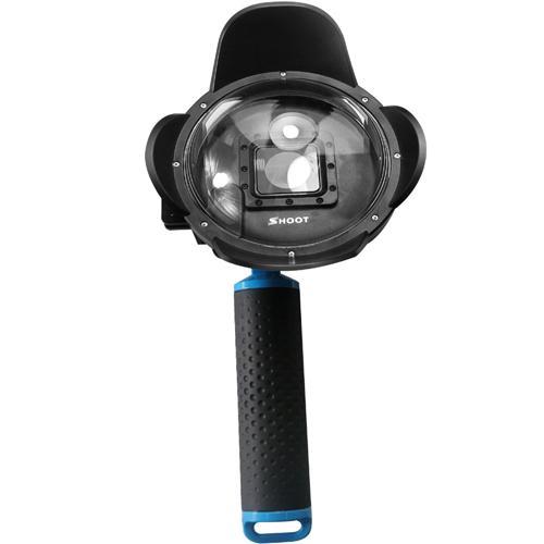 Suporte Mini Dome Shoot GPR-323 Geracao 2.5 Kit para Gopro Hero 3/ 3+/ 4 Eken/ Sjcam/ com 4 Pecas - Preto, Azul