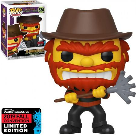Boneco Funko Pop The Simpsons Treehouse Of Horror Exclusive NYCC 2019 - Evil Groundskeeper Willie 824