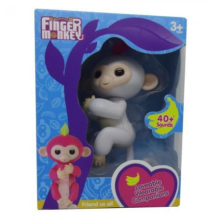 Boneco Baby Monkey Fingerlings Branco