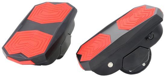 """Scooter Hovershoes com LED e Roda de 3.5"""" Preto/Vermelho"""