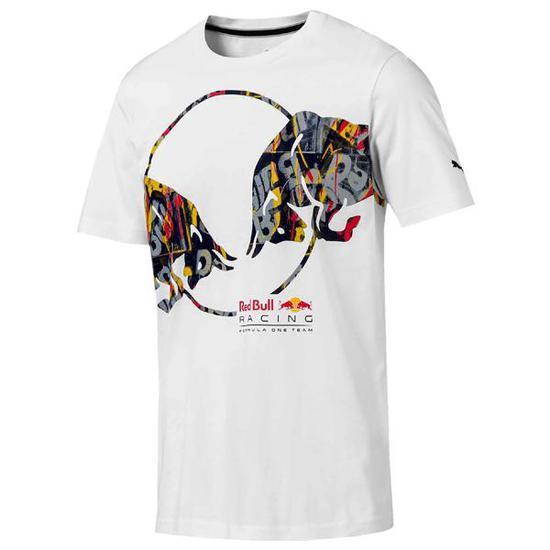 Camiseta Puma Red Bull Racing Double Bull Tee XL (GG) Masculina - Branca 3ee9d049c6f