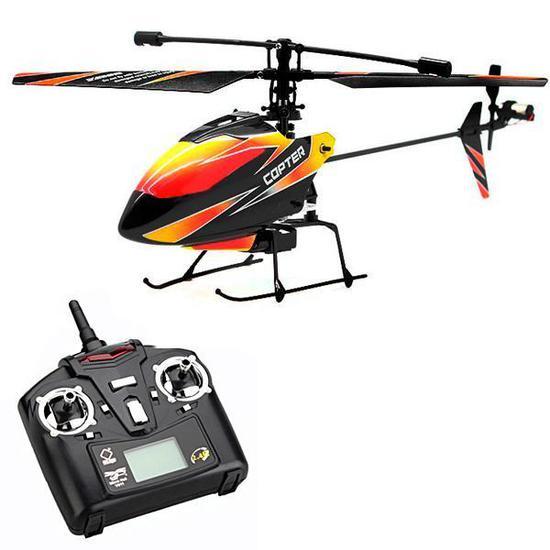 Helicoptero de Controle Wltoys Micro Copter V911 2.4GHZ/4 Canais - Laranja/Preto