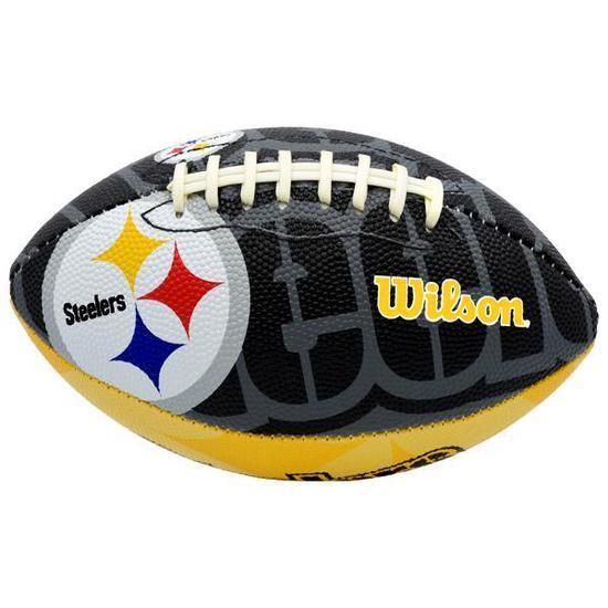 Bola de Futebol Americano Wilson Steelers Mini WTF1521 NFL - Amarela Preta 9fa5059b06509