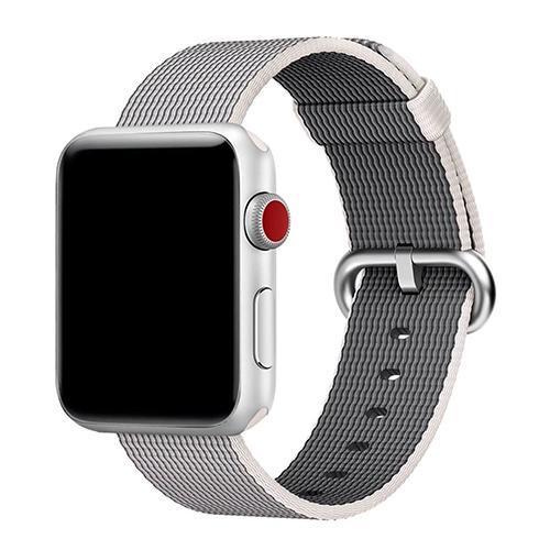 Pulseira 4LIFE de Nylon Listrado para Apple Watch 42MM - Bege e Cinza