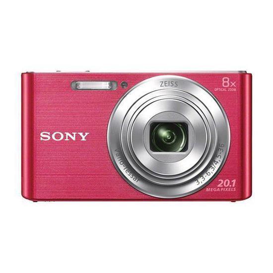 """Camera Fotografica Sony DSC-W830 Tela 2.7"""" de 20.1MP HD X8 Zoom Optico - Rosa"""