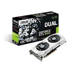 Placa de Vídeo 6GB Asus GTX1060 Oc Dual 192BIT 1280MHZ GDDR5/DVI/HDMI/DP DUAL-GTX1060-06G
