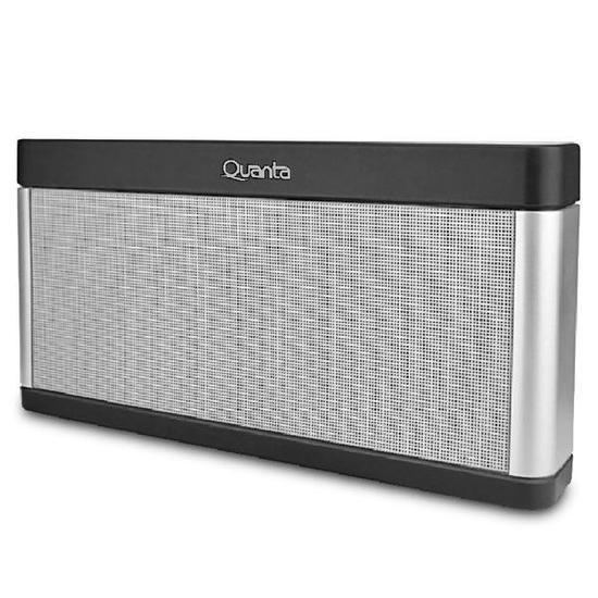 Caixa de Som Quanta QTSPB39 com USB/Auxiliar/FM Bateria de 2.000 Mah - Prata