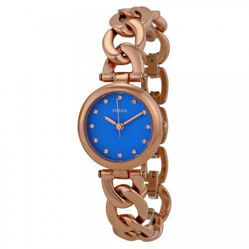 24a291d07d0 Relogio Fossil Feminino Dourado Azul ES3576 na loja Victoria Store ...