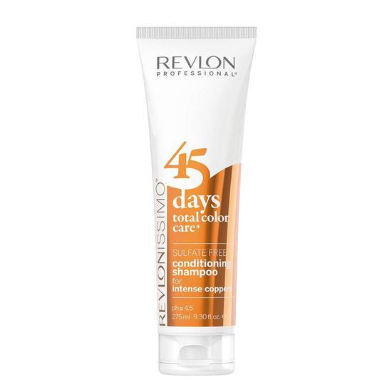 Shampoo + Condicionador Revlon Professional 45 Days 2 Em 1 Intense Copper 275ML