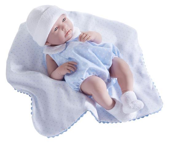 JC Toys Boneca 18109 40CM c/ Cobertor Poa Rosa
