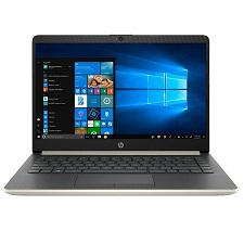 "Notebook HP 14-CF0006DX i3-7100U 2.4GHZ / 4GB / 128GB SSD M.2 / 14"" HD - Windows 10 Ingles - Dourado"