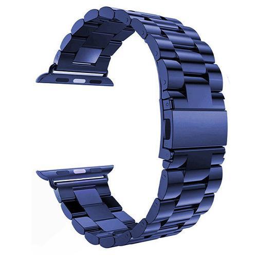 Pulseira 4LIFE de Aco Inoxidavel para Apple Watch 38MM - Azul Marinho