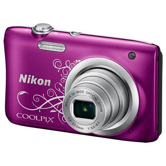"Camera Digital Nikon Coolpix A100 Display 2.7"" 20.1MP Lente Nikkor Zoom 5X - Roxo"