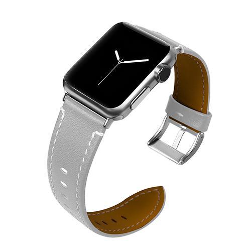 Pulseira 4LIFE de Couro para Apple Watch 38MM - Cinza