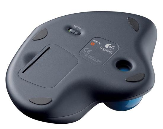 Mouse Logitech M570 Wireless Preto/Azul
