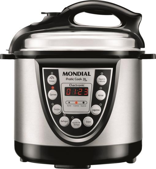 Panela de Pressao Eletrica Mondial Master Practic Cook 3L - 220V/60HZ