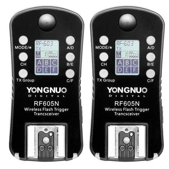 Controle para Flash Yongnuo RF605N de 2.4GHZ para Cameras Nikon - Preto