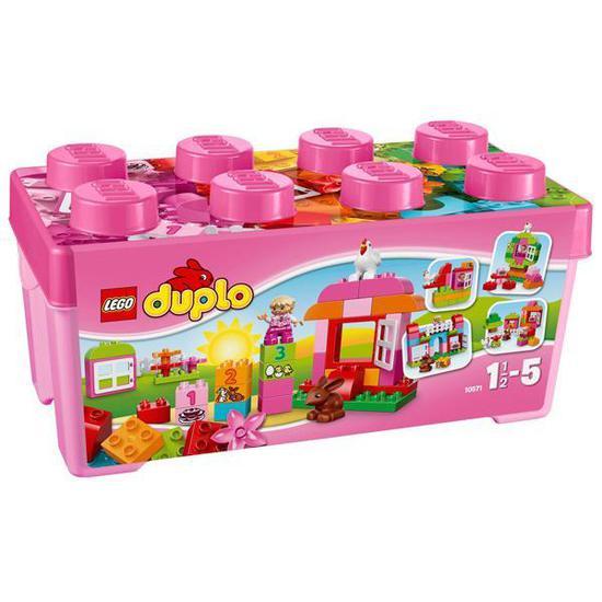 Blocos de Montar Lego Duplo 10571 All-In-One Pink Box Of Fun - 65 Pecas
