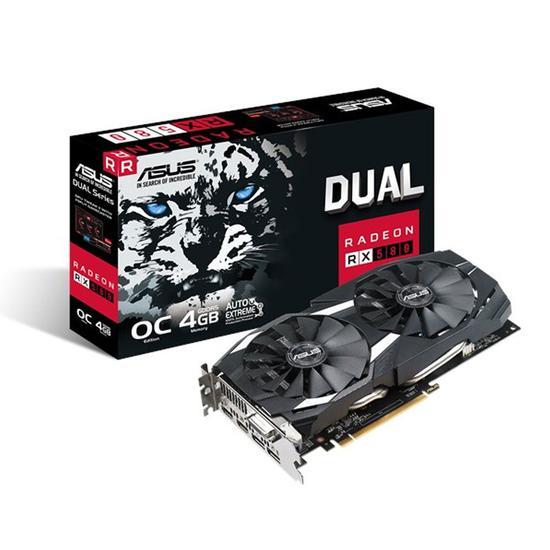 Placa de Vídeo Asus RX-580 4GB Dual Oc GDDR5 256BIT 2FAN