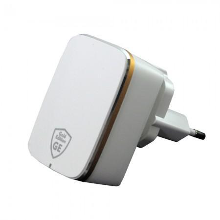 Carregador USB de Viagem Gold Edition GE1204Q USB3.0A/ 18W - Branco