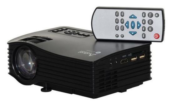 Projetor Audisat LED PJ-035 Wifi 2.4G 30ANSI Lumens Preto