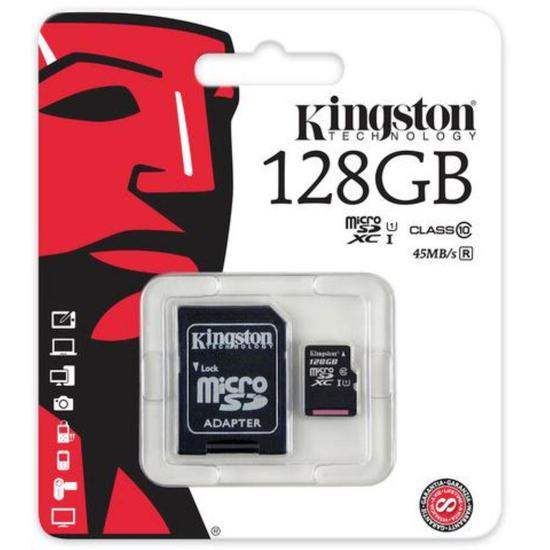 Cartao de Memoria Kingston Micro SD 128GB 80MB SDC10