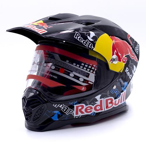Capacete para Moto Red Bull FF409 - Preto - Tam. G (59-60CM)