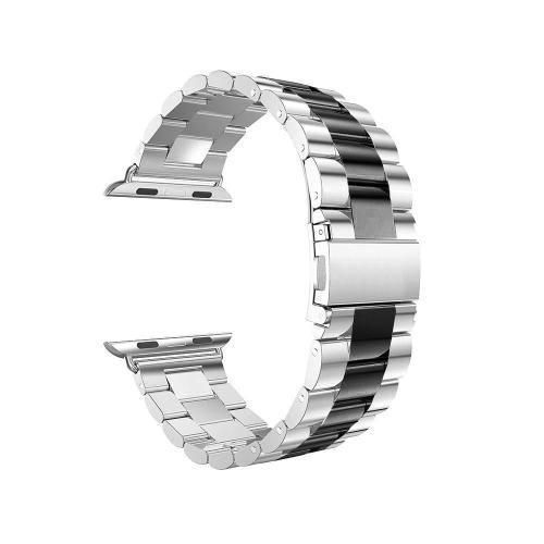 Pulseira 4LIFE de Aco Inoxidavel para Apple Watch - 38MM - Preto / Prata