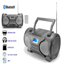 Radio Portatil Powerpack Boom Box CDBT-868 BT/ FM/ SD/ MP3/ USB/ 500W/ Bivolt Cinza