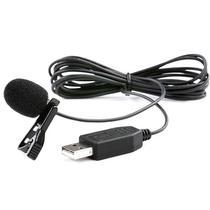 Microfone de Lapela Omnidirecional Saramonic SR-ULM5 USB para PC e Mac 2 Metros - Preto