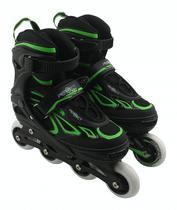 Patins Perfect Sports Roller SS-88A - Tamanho Ajustavel - 31 A 34 - Verde