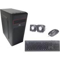 Gabinete Kit Gabinete Mtek D099B + Mouse + Speaker + Teclado - Portugues - Fonte 500W - Preto