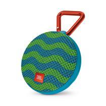 Caixa de Som JBL Portatil Clip 2 Azul/Verde