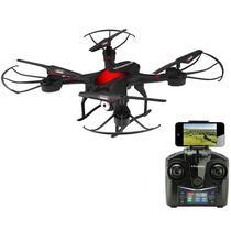 Drone Polaroid PL300 com Controle/Camera, 1000MAH, 2.4GHZ, Wi-Fi, HD 720P - Vermelho