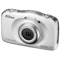 "Camera Nikon W-100 Wi Fi/Bluetooth/NFC de 13.2MP Lente Ninikkor LCD 2.7"" - Branca"