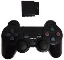 Controle Play Game Sem Fio 2.4 GHZ Dualshock para PS3,PS2 e PC Blister - Preto