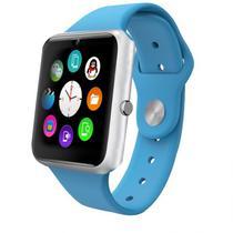 Relogio Smartwatch Q7S Azul/Prata