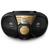 Aparelho de Som Philips CD Soundmachine PX3115G USB - Preto/Dourado