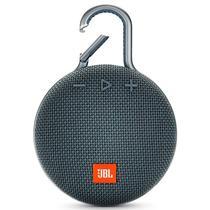 Caixa de Som de Som JBL Clip 3 com Bluetooth e Auxiliar Bateria de 1.000 Mah - Azul