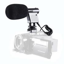 Microfone Boya BY-VM01 p/Camara Reflex Preto $