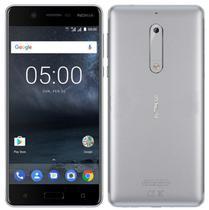 "Smartphone Nokia 5 2GB/16GB Lte Dual Sim Tela 5.2""HD Cam.13MP+8MP-Prata"