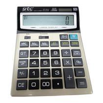 Calculadora DTC DT-912 com 12 Digitos - Dourada/Preta
