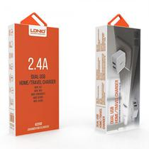 Carregador Ldnio A2202 com Duas Portas USB 2.4A V8 Branco