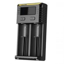 Carregador de Pilha/Bateria Nitecore New I2 para Ate 2 Pilhas, Bivolt - Preto